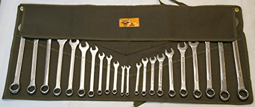 Bull Tools BT 1607 Wrench Tool Roll 224 pocket 100 Dyed Olive Drab 15 Oz Cotton Duck Canvas