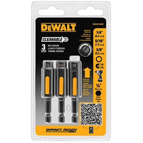 DEWALT DWA2240IR 3-Piece IMPACT READY Cleanable Nutsetter