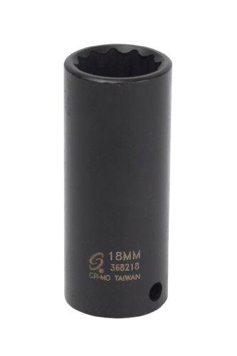 Sunex 368218 38-Inch Drive 18-mm 12-Point Deep Impact Socket