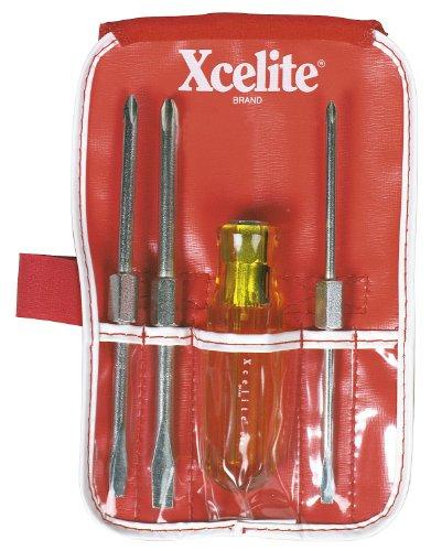 Xcelite CK3 4 Piece Standard and Phillips Screwdriver Pocket Roll Kit