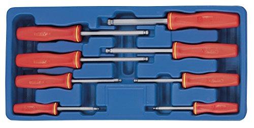 Genius Tools HS-5708MW Metric Wobble Hex Screwdriver Set 8-Piece