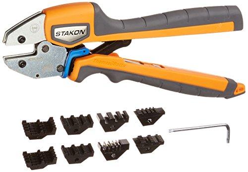 Thomas Betts ERG4 Sta-Kon Ergonomic Crimp Tool for Installing Wire Ferrules 26-10 AWG OrangeBlack Handle