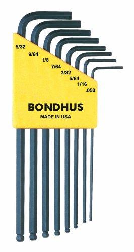 Bondhus 10932 Set of 8 Balldriver« L-wrenches sizes 050-532-Inch