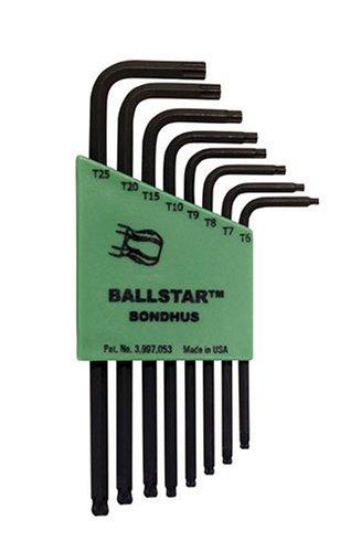 Bondhus 11331 Set of 8 BallStar L-wrenches sizes T6-T25