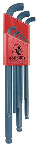 Bondhus 16599 Set of 9 Balldriver Stubby L-wrenches sizes 15-10mm