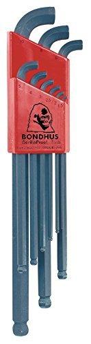 Bondhus 16599 Set of 9 Balldriver Stubby L-wrenches sizes 15-10mm by Bondhus