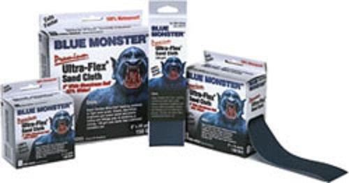Millrose 70176 Monster Ultra Flex Premium Mini Strips Abrasive Cloths 2-Inch x 25-Yard Blue