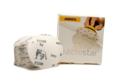 MIRKA Microstar 3 Inch 2000 Grit Sanding Discs 50 per box