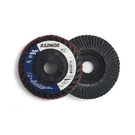 Radnor by Norton 4 12 X 78 40 Grit Type 27 Flap Disc 20Box