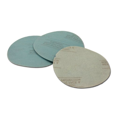 5 Inch 100 Grit Hook and Loop Wet  Dry Auto Body Film Sanding Discs  10 Pack