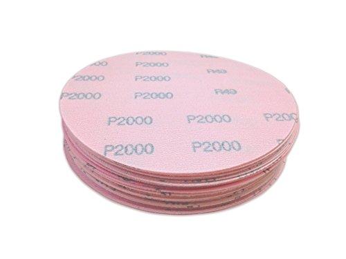5 Inch 2000 Grit Hook and Loop Wet  Dry Auto Body Film Sanding Discs  50 Pack