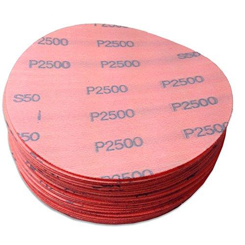 5 Inch 3000 Grit Hook and Loop Wet  Dry Auto Body Film Sanding Discs 50 Pack