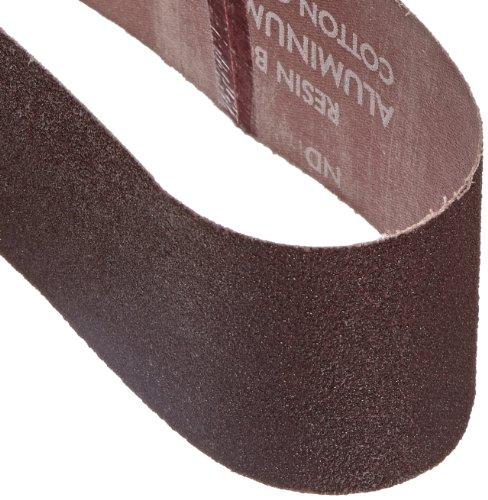 Norton 3X High Performance Portable Sanding Belt Aluminum Oxide 21 Length x 3 Width Grit 50 Coarse  Pack of 5