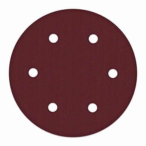 ALEKO 10SPDP3000-80G 9 Inch 6 Hole 80 Grit Sanding Discs Sandpaper for Drywall Sander 10 Pack