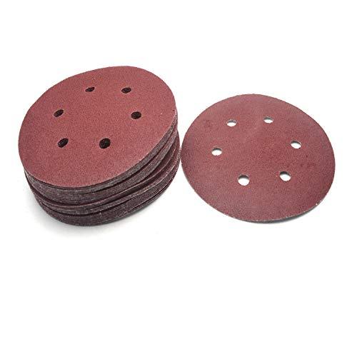Antrader 30 PCS 6 Inch 80 Grit Sanding Disc 150mm 6 Hole Hook and Loop Sandpaper Air Power Angle Grinder Sander Disk Abrasive Tools Polising Pad for Random Orbit Sanders