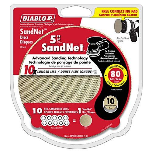 Diablo SandNet 80 Grit Sanding Disc - DND050080H10I