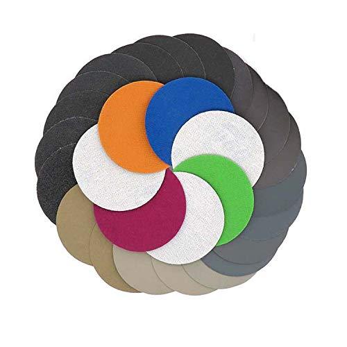 30pcs 150mm 6 Inch Grit 32040060080010001500 Water Dry Sanding Discs Hook Loop Sandpaper Round Sandpaper Disk Sand Sheet