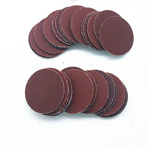 Assorted Set 30pcs 25mm 1 Inches Grit 80100120180240320 Sanding Discs Hook Loop Sandpaper Round Sandpaper Disk Sand Sheet