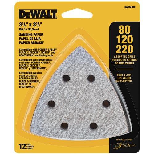 DEWALT Sandpaper Assortment Hook and Loop Triangle 12-Pack DWASPTRI