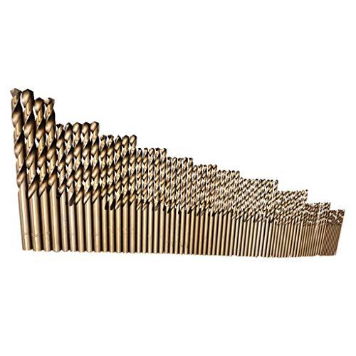 Kidirt 74Pcs Cobalt Twist Drill Combination Drill Bit Set for High Tensile Steels 1-8mm