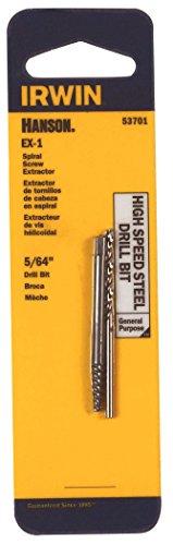 Irwin Hanson 53701 564 Spiral Screw Extractor Drill Bit Set