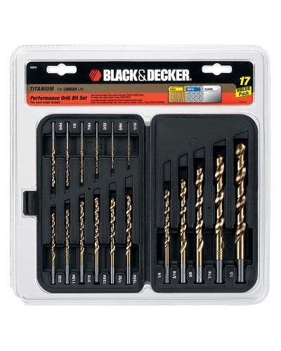 Black Decker 15573 17 Piece Titanium Drill Bit Assortment
