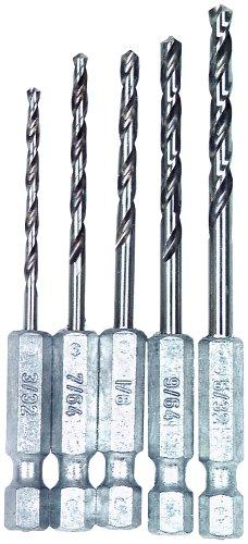 Vermont American 13135 Quick Hex Shank Twist Drill Bit Assortment 5-Piece