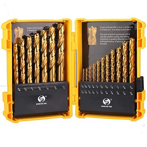 Titanium Twist Drill Bit Set- 29 PCS Hex Shank High Speed Steel Twist Drill Bit SetImpact Drill Bit SetQuick Change Design116-12