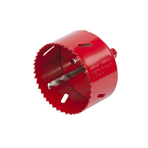 Wolfcraft 5494000 1 Hole Saw BiM Diameter 76 mm with Shaft and Drill Bit by Wolfcraft