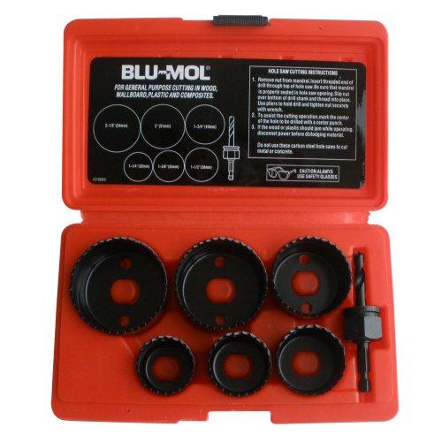 Disston E0114490 Blu-Mol Carbon Steel Hole Saw Kits Carbon Kit 7-Piece