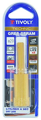 Tivoly 12000920600 Pack of 1 Ceramic Drill Bit Diamond Dry Technic Gold Diameter 6 mm
