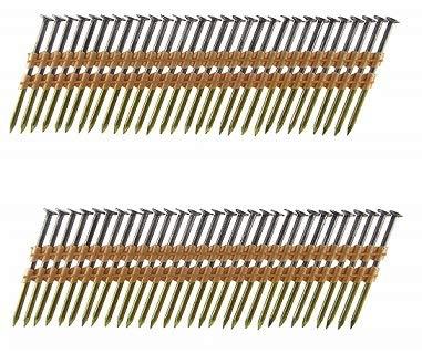 B&C Eagle A238X11322 Round Head 2-38-Inch x 113 x 22 Degree Bright Smooth Shank Plastic Collated Framing Nails 500 per box Тwо Расk