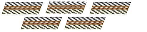 B&C Eagle A238X11322 Round Head 2-38-Inch x 113 x 22 Degree Bright Smooth Shank Plastic Collated Framing Nails 500 per box 5Units
