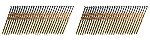 B&C Eagle A312X131HD22 Round Head 3-12-Inch x 131 x 22 Degree Hot Dip Galvanized Smooth Shank Plastic Collated Framing Nails 500 per box Twо Pаck