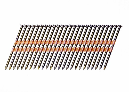 Grip-Rite GR014 Round Head 3-Inch by 131-Inch by 21 Degree Plastic Collated Vinyl Coated Framing Nail 4000 per Box