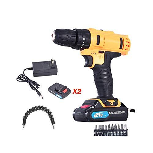 WokasunJJ Auto parts21-Volt drill 2 Speed Electric Cordless DrillDriver with Bits Set 2 BatteriesHot sales