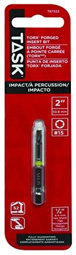 Task Tools T67322 Impact T15 Torx Driver Bit 2-Inch Length