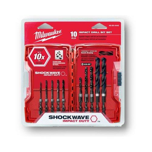 10-Piece Shockwave Hex Shank Drill Bit Set