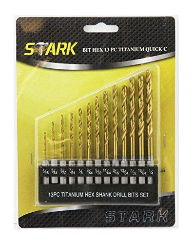 13 pc Titanium Hex Shank Drill Bits Set Quick C