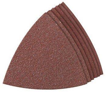 4 Pack Dremel MM70W Assorted 60120240 Grit Hook Loop Sanding Triangles for Wood 6 per Package