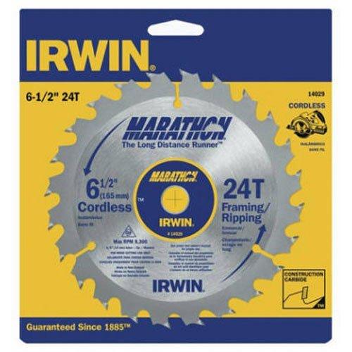 IRWIN Tools MARATHON Carbide Cordless Circular Saw Blade 6 12-Inch 24T 063-inch Kerf 14029