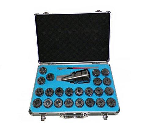 BT40 ER40 Milling Collet Chuck Set 23 Pcs Proj 314 Bal25000rpm