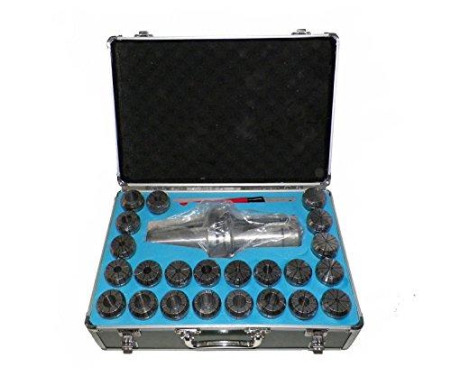 BT50 ER40 Milling Collet Chuck Set 23Pcs 18 - 1 Proj 591 Bal25000rpm