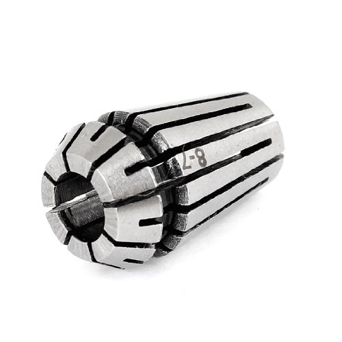 uxcell 8mm-7mm ER16 Tools Holding Clamping Spring Collet Socket Silver Tone