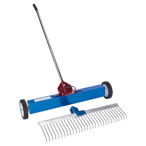AMK Manufacturing Rolling Magnetic Sweeper Rake Attachment - For Item 1501682 Model MSM Rake