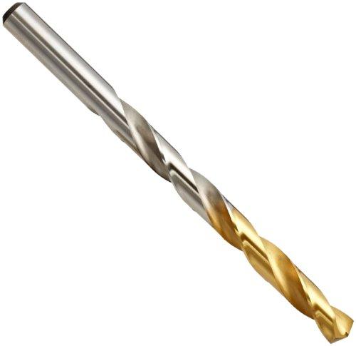 YG-1 High Speed Steel Gold-P Jobber Drill Bit TiN Finish Straight Shank Parabolic Spiral 130 Degree 85mm Diameter x 151mm Length Pack of 1