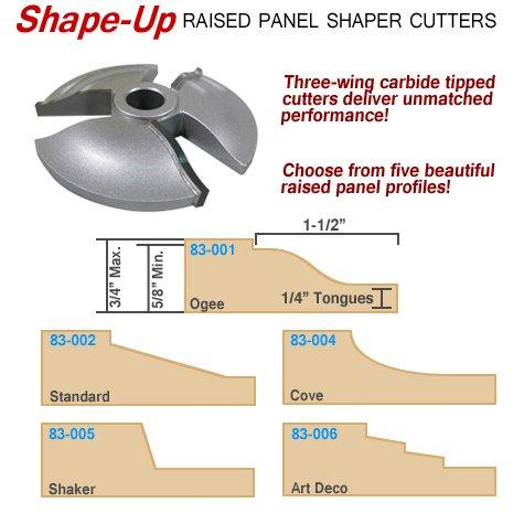 Infinity Tools 83-002 Standard Raised Panel Shaper Cutter 34 Bore
