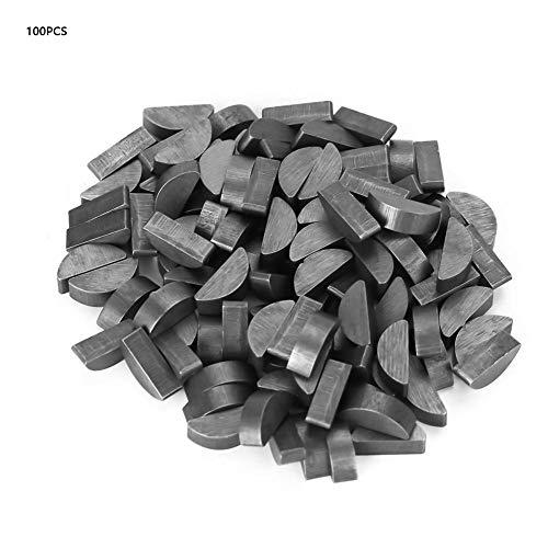 Akozon Woodruff Keys 100Pcs 45 Steel Semicircle Bond Woodruff Key Kit Accessories 4513mm