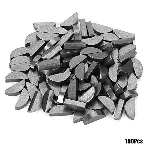 Semicircle Bond 45 Steel Semicircle Bond Woodruff Key Kit Accessories 3x5x13mm for Industrial Home 100Pcs