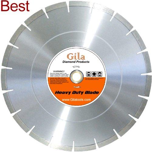 GilaTools 18 Heavy Duty Hard Concrete  Hard Aggregates Walk Behind Saw Blade